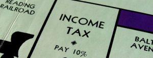 Monopoly board income tax