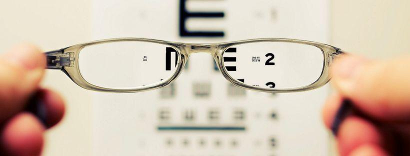 view of eye chart through glasses